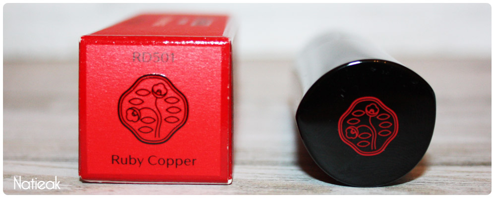 ruby copper rouge rouge de Shiseido packaging