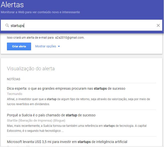 ferramenta online Google Alertas