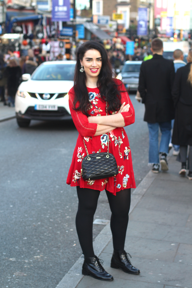 Emma Louise Layla in red ASOS dress - London lifestyle blog