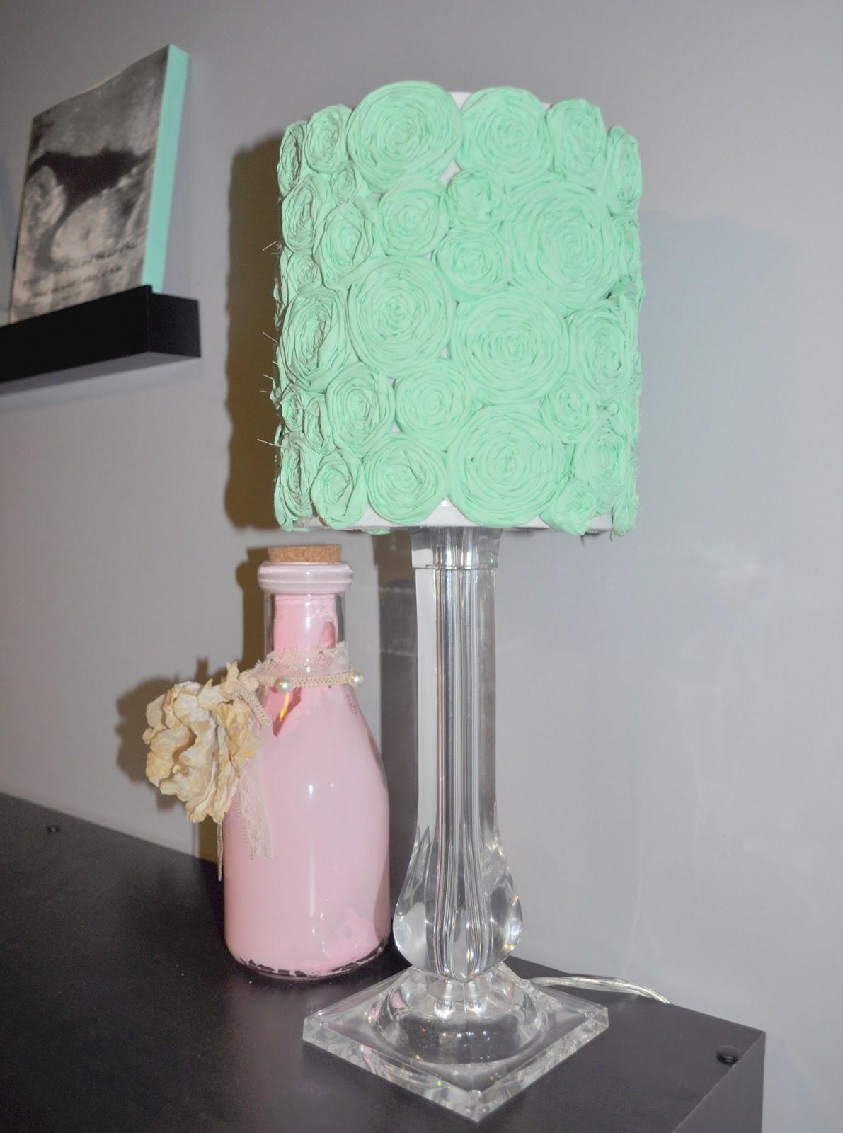 for Lauren and Lauren: DIY Flower Lamp Shade