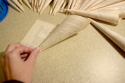 how to make book page wreath Christmas