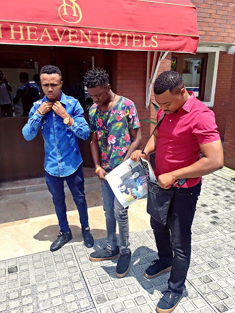 Popular Blogger Clement Ogudu Spotted With Hit Maker HumbleSmith