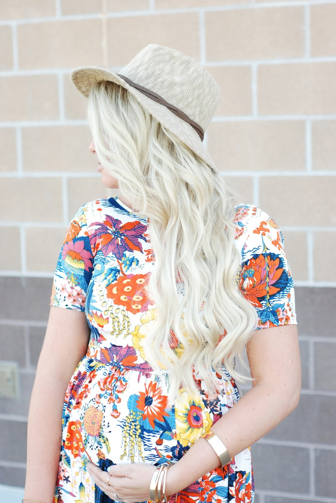 Fall hat, Zaful Dress, Blonde extensions