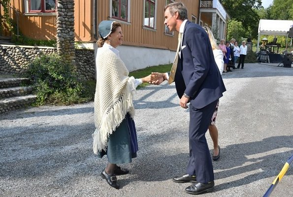 Swedish Queen Silvia visited Pensioners' Day 2018 event held at Ekebyhov Palace Park in Ekerö near Stockholm