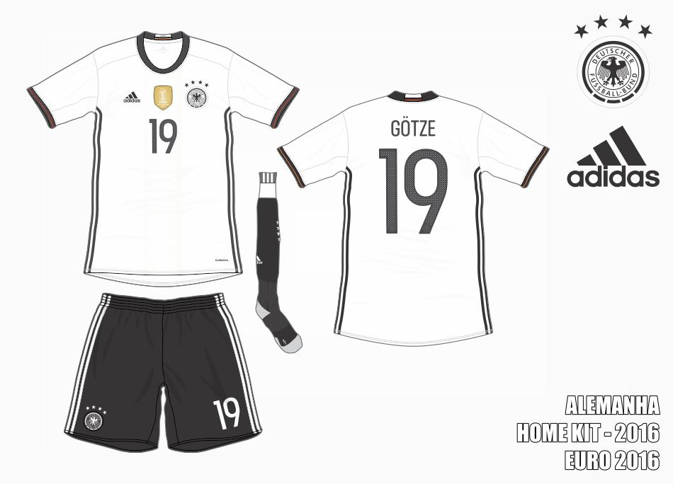 Os novos uniformes da Alemanha é inspirado nas camisetas clássicas da  equipe 9c5cca94888b1