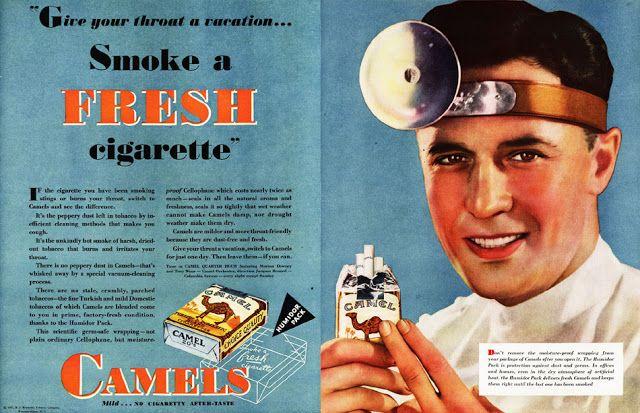 Anuncio vintage de cigarros