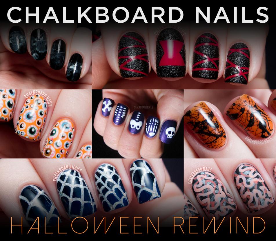 Halloween Nail Art: The Chalkboard Nails Halloween Nail Art Rewind