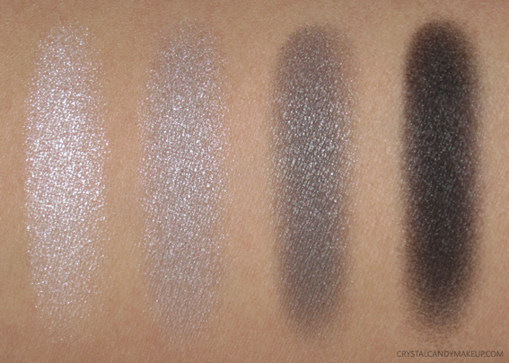 Clarins 4-Colour Eyeshadow Palette 05 Smoky Swatches