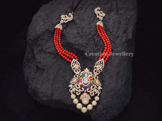 Coral Beads Set by Creations Jewellery