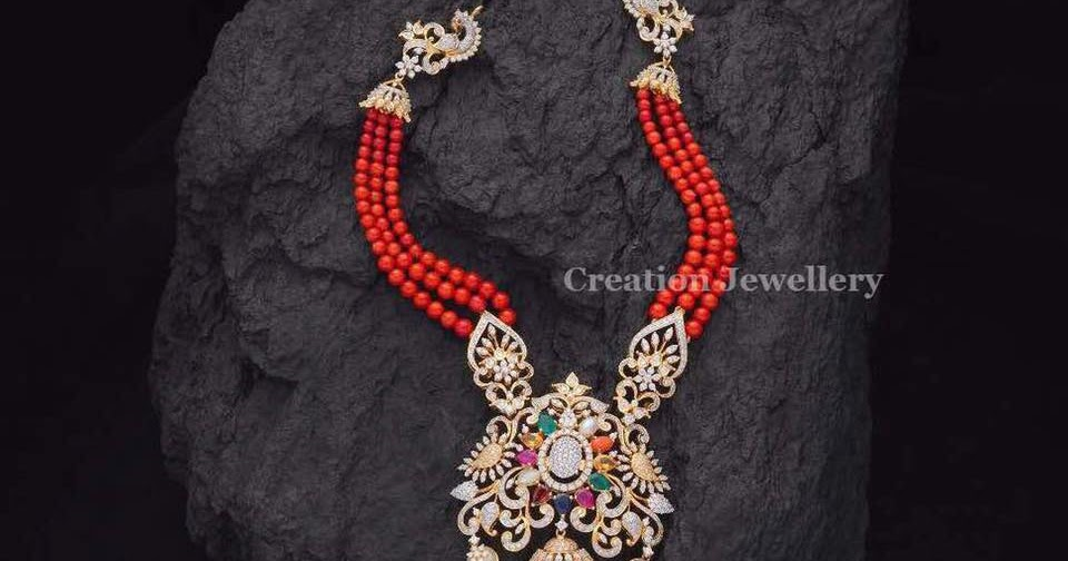 Coral Beads Set By Creations Jewellery Jewellery Designs
