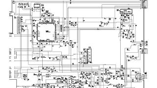 Skema TV SHARP schematic main board 51Z200S, 51Z250S, 51Z500S, 51Z508S