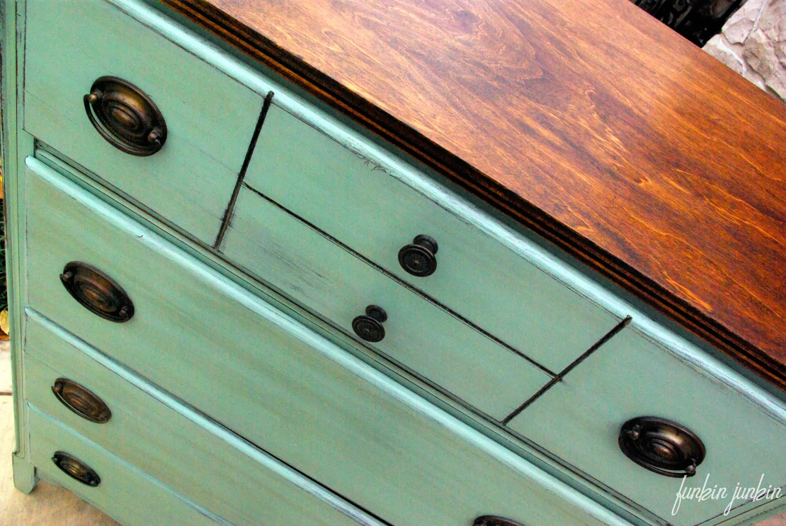 Tool Chest Dresser Makeover: Funkin Junkin: Antique Chest Of Drawers Makeover