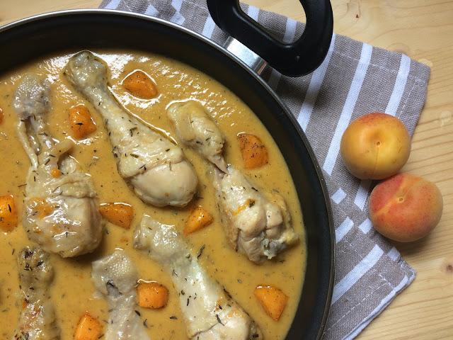 pollo en salsa de albaricoques receta