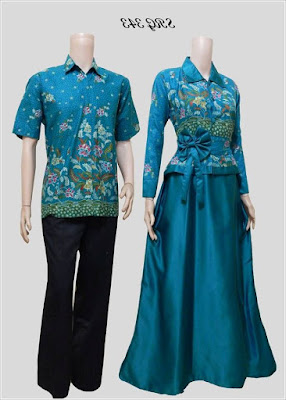 Model Baju Batik Blouse Couple terbaru