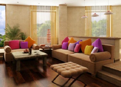 Ruang Tamu Yang Digunakan Untuk Berbual Dan Menikmati Hidangan Ringan Memerlukan Meja Kopi Besar Diletn Di Tengah Dilengkapi Sisi Serta