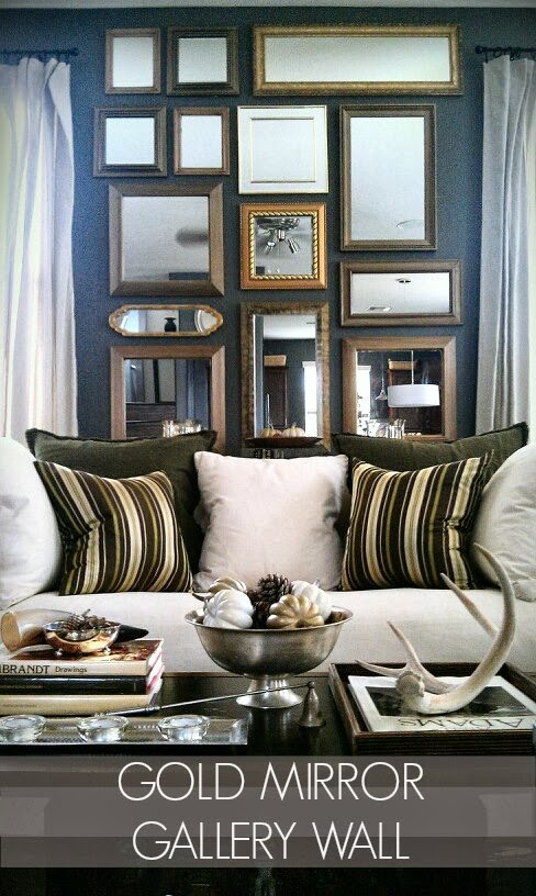 Dark Grey Sofa Styling Beds Australian Made Focal Point Styling: How To Create A Gold Mirror Gallery ...