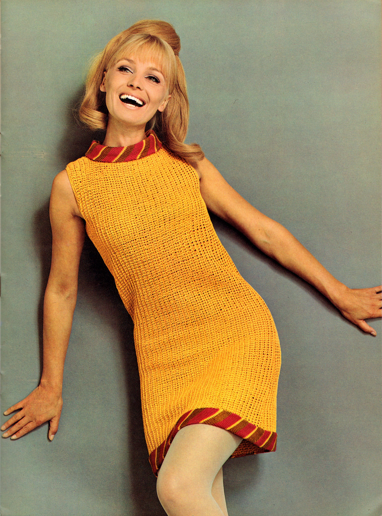 Beautiful Knitted Dress Fashion Of The 1960s Vintage