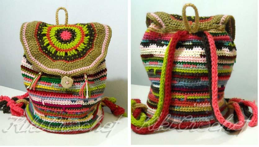 90f27f9aa4 Kiki Crochet  Πλεκτο Σακιδιο με Ρεταλια (φωτο)