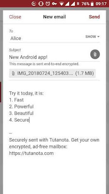 Tutanota: simply secure emails for Android Free Download