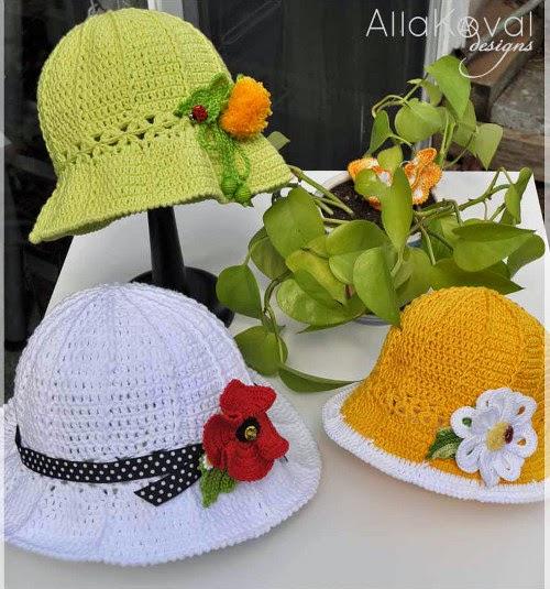 Cappelli per l'estate ad uncinetto