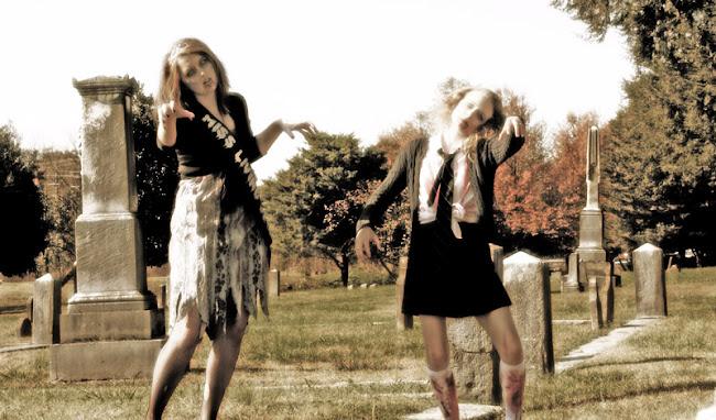 Zombie Catholic School Girl Costume