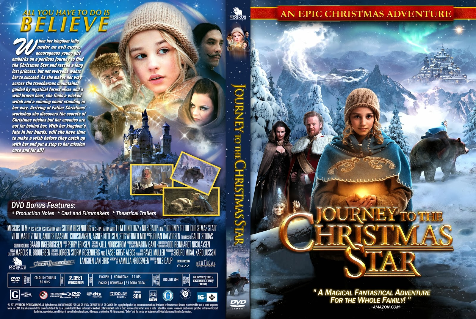 Journey To The Christmas Star.Dvd Covers And Labels Journey To The Christmas Star Dvd Cover