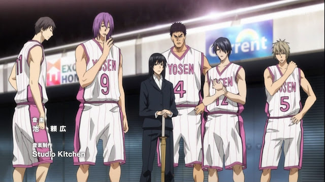 Players and the coach of Yōsen High School