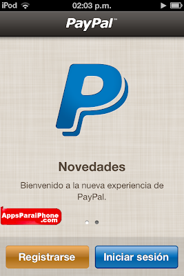 Paypal para iPhone iPad y iPod Touch