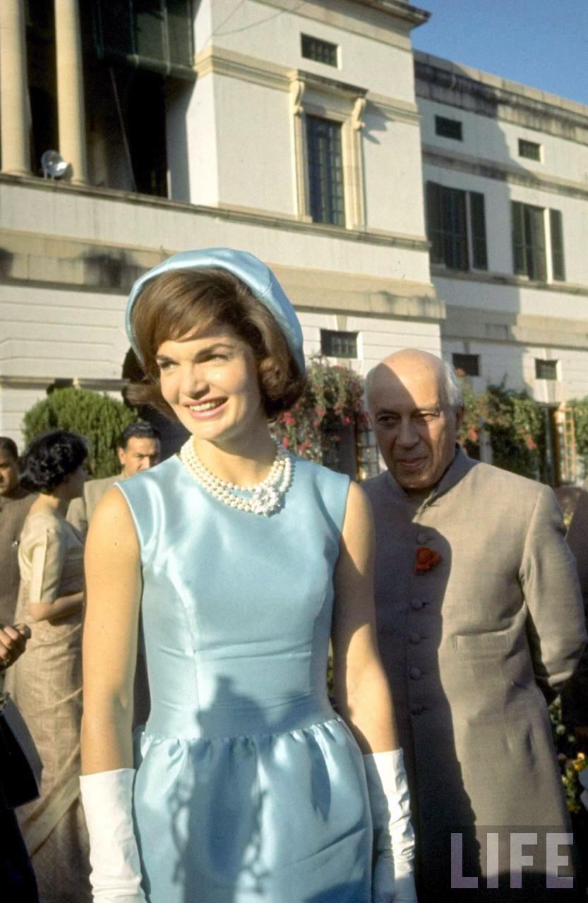 Jackie Kennedy Visits India 1962 Vintage Everyday