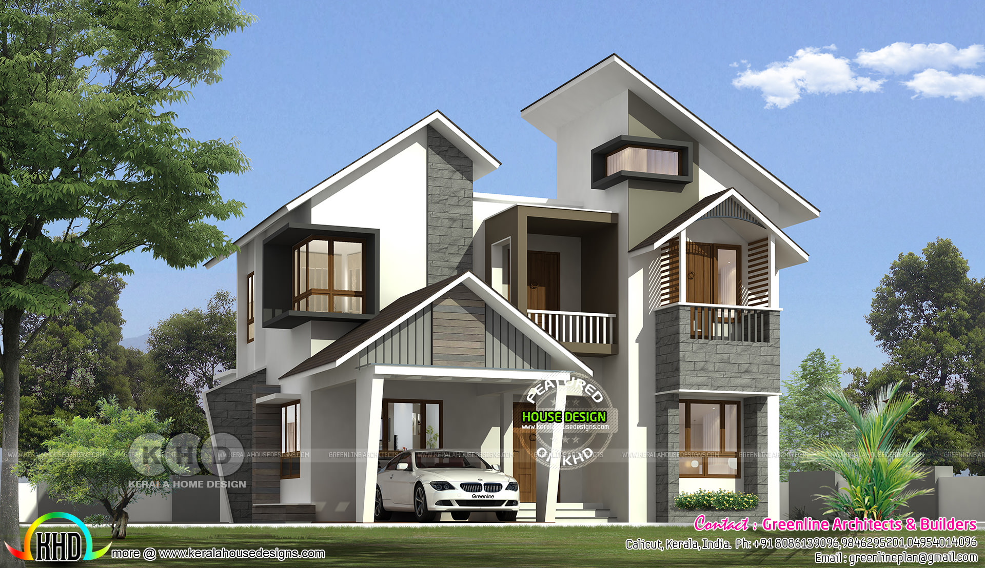 Ultra modern contemporary 1822 sq ft 3 bedroom home for Modern 3 bedroom house
