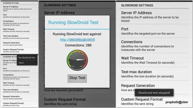 slowdroid website ddos tool