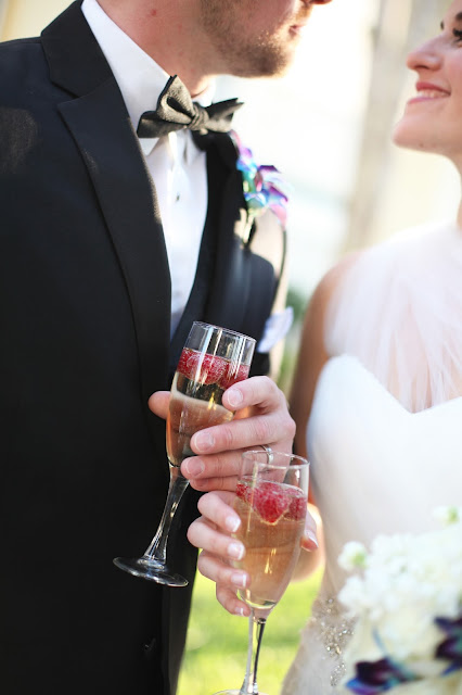 champagne toast at sanibel wedding