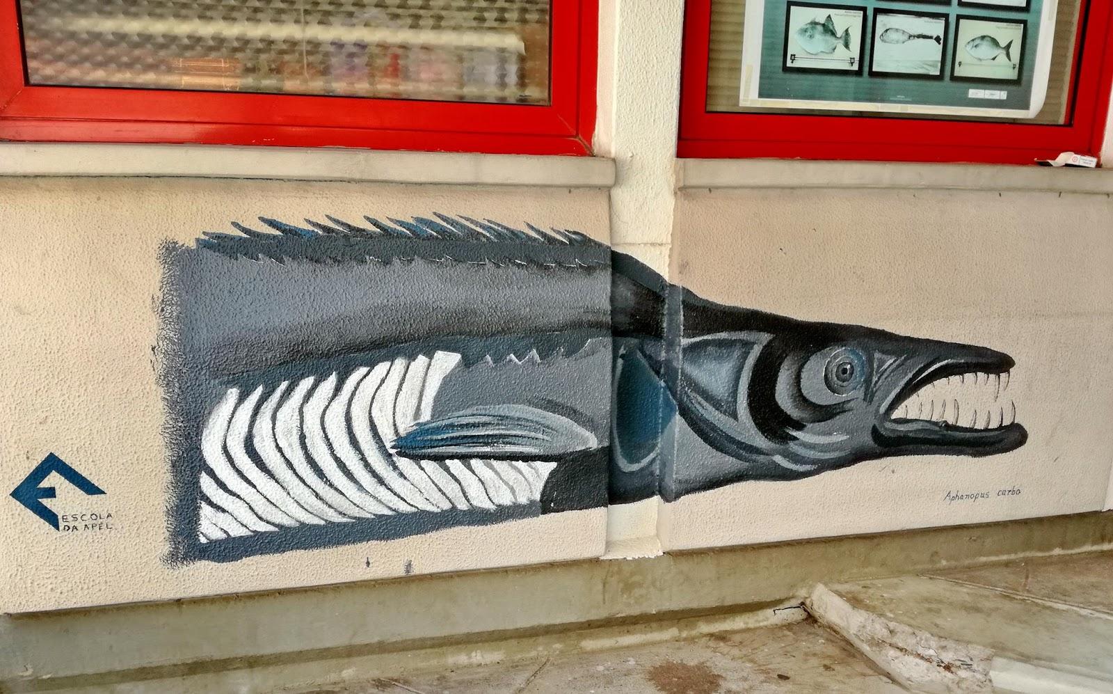 pintura de um peixe-espada na lota
