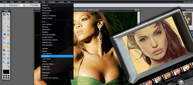 Photoshop en ligne dans différentes langues