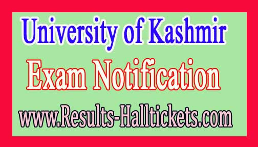 University of Jammu M.Sc Sericultural Ist Sem Dec 2016 Exam Notification