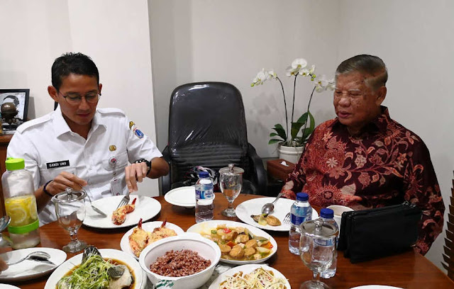 Temui Sandiaga Uno, Mantan Wagub DKI Bunyamin: 'Jakarta ini Bukan Kota Kaki Lima'