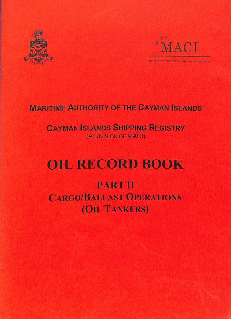 Guidance for the recording of operations in the oil record book