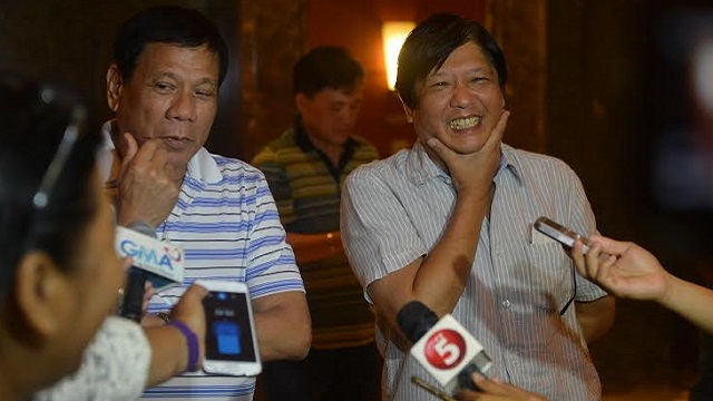 Duterte and Marcos graciously entertains the press.