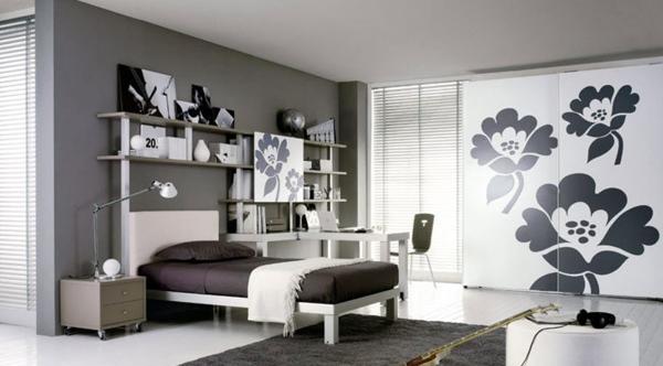 Desain Kamar Tidur Unik Hitam dan Putih