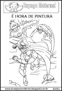 Desenho do super herói para colorir - maternal