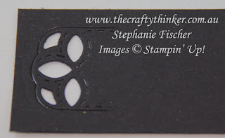 www.thecraftythinker.com.au, Die Cutting Techniques, Stitched Labels, Reducing the length of a die cut, Stampin' Up Australia Demonstrator, Stephanie Fischer, Sydney NSW