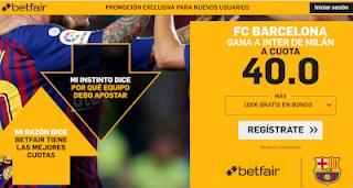 betfair supercuota champions Barcelona gana al Inter 24 octubre