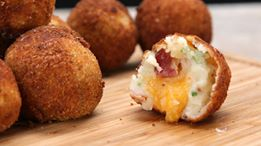 Loaded Cheese-Stuffed Mashed Potato Balls Recipe