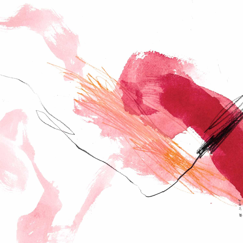 Aquarelle, crayon et graphite sur papier Arches, 30 x 30 cm, oct. 18 © Annik Reymond