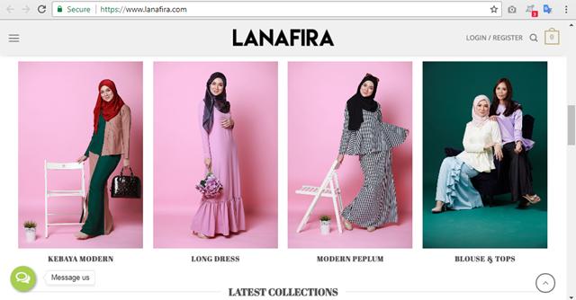 LANAFIRA : Butik Online Baju Muslimah Trendy dan Terkini