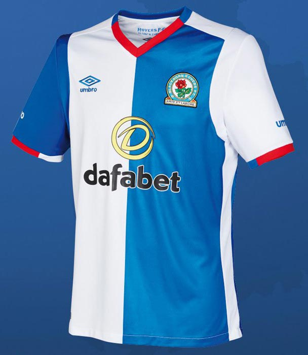 Umbro blackburn rovers 16 17 home away and third kits for Blackburn home