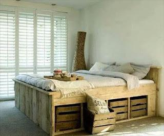 lit avec cassier de rangement en caisse a fruit