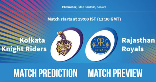 IPL 2018 Eliminator KKR vs RR Match Prediction, Preview, Head to Head, Who Will Win