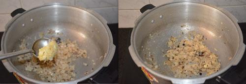 adding ginger garlic paste