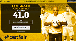betfair supercuota Real Madrid gana a Sevilla 9 mayo